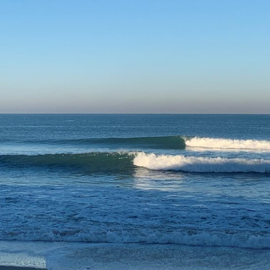 The sandbars of South West France are perfect for learning to surf, from white wash, to surfing at the back!