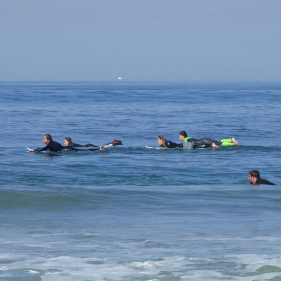 Paddle to get to the peak, paddle to get to the waves, this sport is 80% paddling, so follow your teacher ;)